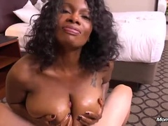An Attractive Busty Black Mature Lady Who Gives A Wonderful Manner Of Hands